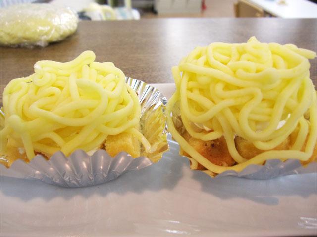 収穫したサツマイモでイモンブラン作り