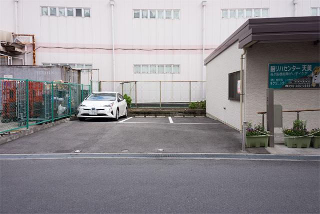 デイケア敷地内駐車場